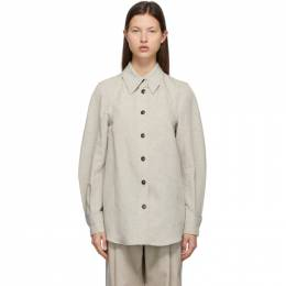 Low Classic Taupe Linen and Cotton Shirt LOW21SS_SH09BE
