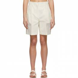 Low Classic Off-White Cotton Half Pant Shorts LOW21SS_SR05OW