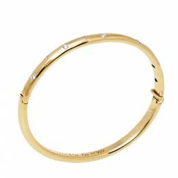 Tiffany & Co. Etoile Diamond 18k Yellow Gold Platinum Bangle Bracelet 397088