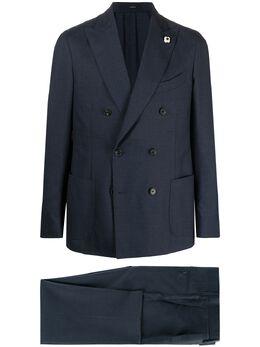 Lardini костюм с двубортным пиджаком EL427AEELRP56488