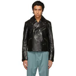 Noon Goons Black Leather Public Image Jacket NGSP21003