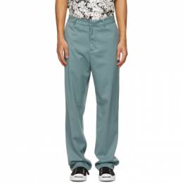 Noon Goons Blue Twill Ahmed Trousers NGSP21023