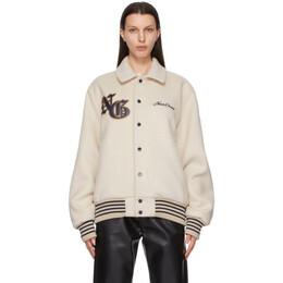 Noon Goons Beige Wanderes Varsity Jacket NGSP21002