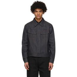 Dunhill Indigo Denim Press-Stud Jacket DU21RH015FR