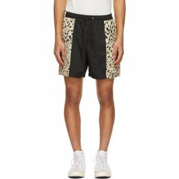 Noon Goons Black Leopard Foamers Shorts NGSP21033