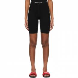 T By Alexander Wang Black Logo Bike Shorts 4KC2214067