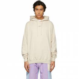 Drole De Monsieur Beige Classic Not From Paris Madame Hoodie SS21-HO007-SD
