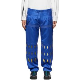 Kiko Kostadinov Blue Embroidered Arcadia Trousers KKSS21T02-600