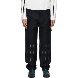 Kiko Kostadinov Black Embroidered Arcadia Trousers KKSS21T02-302