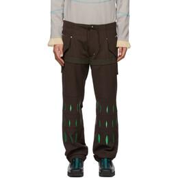 Kiko Kostadinov Brown Embroidered Arcadia Trousers KKSS21T02-201