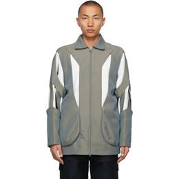 Kiko Kostadinov Grey Hydra Shell Jacket KKSS21C03-A-301/4001