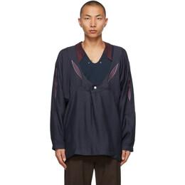Kiko Kostadinov Navy Arcadia Shirt KKSS21S01-803/5001