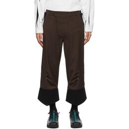 Kiko Kostadinov Brown Flipped Hem Sforza Trousers KKSS21T01-201/101