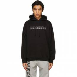 Vetements Black Chemical Logo Hoodie UE51TR240B