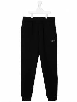 Emporio Armani Kids спортивные брюки с вышивкой 3K4PF61JHSZ