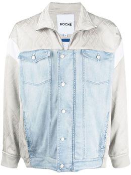Koche джинсовая куртка с контрастными вставками SK4AM0008S30749