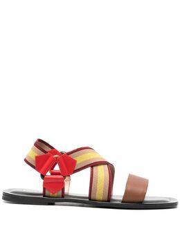 Pollini сандалии с перекрестными ремешками SA16170C0CTD4