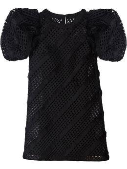 Carolina Herrera платье-трапеция с пышными рукавами S2111E519SOR