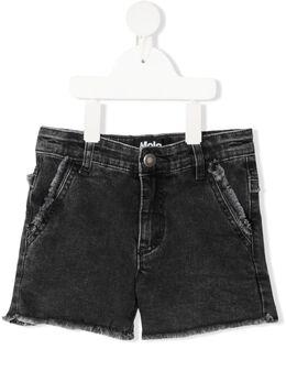 Molo джинсовые шорты с бахромой 2S21H109