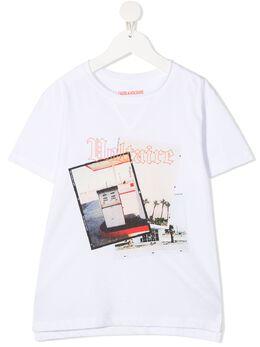 Zadig & Voltaire Kids футболка Kita с фотопринтом SJTC1821E
