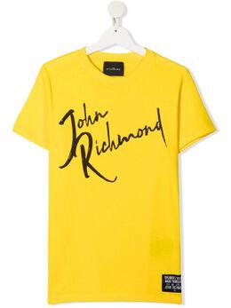 John Richmond Junior футболка с логотипом RBP21096TS