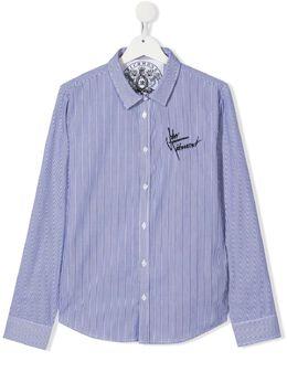 John Richmond Junior рубашка в вертикальную полоску RBP21005CAHB