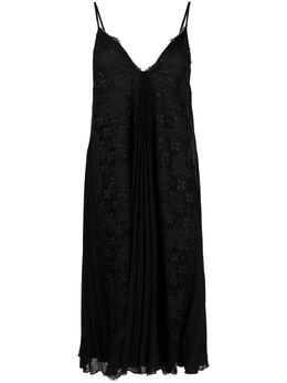 Ermanno Scervino платье-комбинация с кружевом D38ETAB08GEO