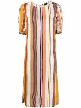 Aspesi полосатое платье с круглым вырезом 2910G428