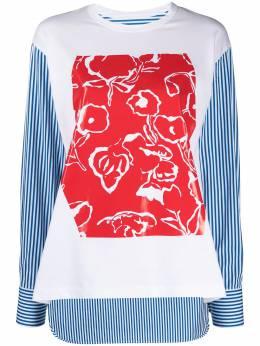 Plan C футболка с длинными рукавами и вставками CMCAC05S17TJ002