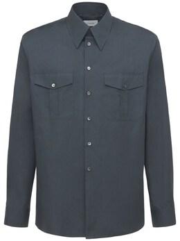 Рубашка Милитари Из Хлопка Lemaire 73IM80011-Njk00