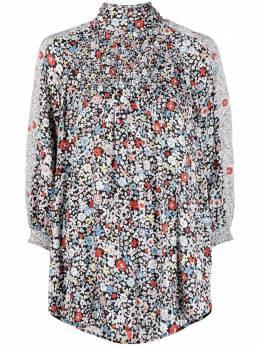 See By Chloe блузка с высоким воротником и цветочным принтом CHS21UHT03023