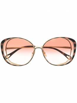 Chloe Eyewear солнцезащитные очки Hannah в оправе 'кошачий глаз' CH0036S