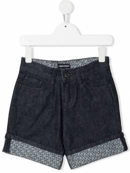 Emporio Armani Kids джинсовые шорты с логотипом 3K4PS11DY7Z
