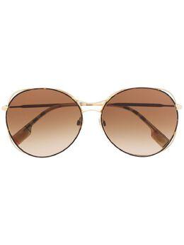 Burberry Eyewear солнцезащитные очки с полосками Icon Stripe B3105