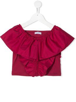 Monnalisa блузка с оборками 177300R17020
