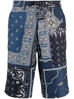 Etro шорты с принтом пейсли 1W6564014