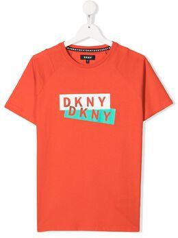 DKNY Kids футболка с логотипом D25D27