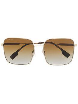 Burberry Eyewear солнцезащитные очки с полосками Icon Stripe B3119