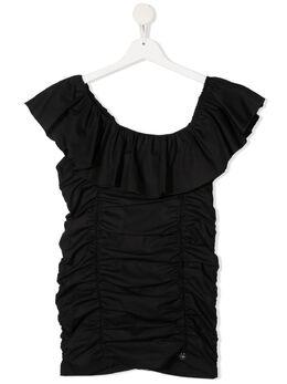 Miss Blumarine блузка с оборками на воротнике MBL3925