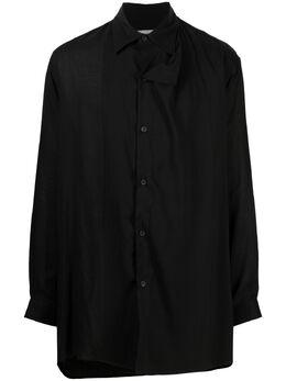 Yohji Yamamoto рубашка TENCEL™ асимметричного кроя HDB09203