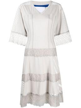 Koche расклешенное платье с кружевной вышивкой SK3CT0003S23966