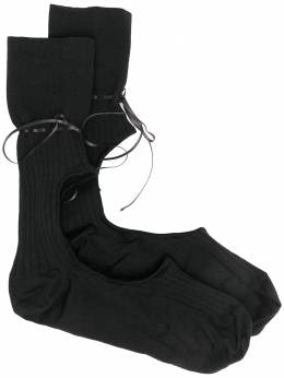 Simone Rocha носки с вырезами SOCK11S0639BLACK