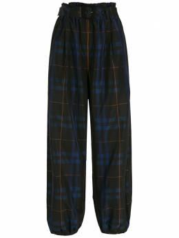 NK клетчатые брюки с поясом CA990101