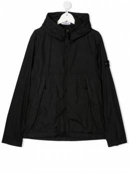 Stone Island Junior куртка с воротником-стойкой и капюшоном MO741640233