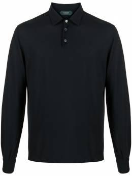 Zanone рубашка поло с длинными рукавами 811819Z0380