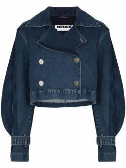 Rotate укороченная джинсовая куртка с оборками RT147