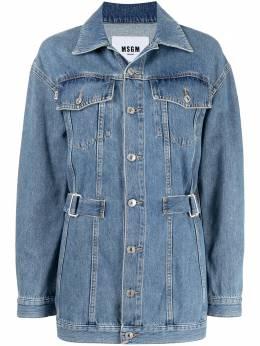 MSGM джинсовая куртка со вставками 3041MDH45L217280