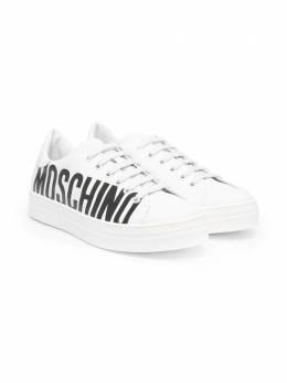Moschino Kids кроссовки с логотипом 67493