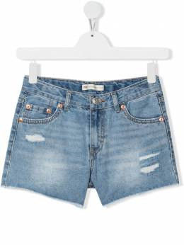 Levi's Kids джинсовые шорты с эффектом потертости ED152