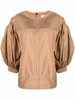 Jil Sander блузка с объемными рукавами JSPS560106WS442200